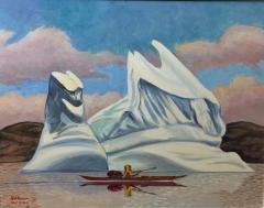 Kayak and Iceberg