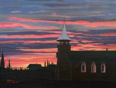 Coleville Lake Church at Sunrise