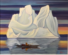 Kayak and Iceberg