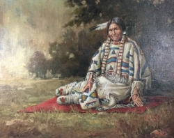 Native Woman in Traditional Dress
