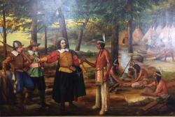 Samuel De Champlain Meets With the Indigenous
